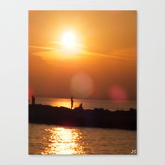 As The Sun Goes Down Canvas Print