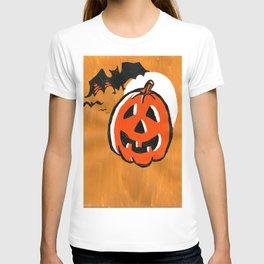Vintage Jack o' Lantern and Bats T-shirt