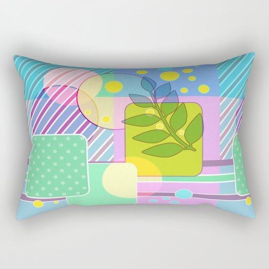 An abstract painting .   Good morning! Rectangular Pillow