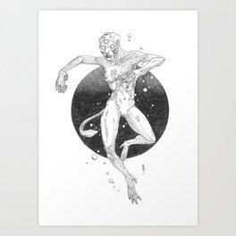"""Sea ape theory"", a mermaid alternative Art Print"