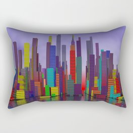 somewhere, where people like colors Rectangular Pillow