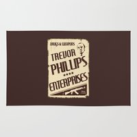 gta Area & Throw Rugs featuring GTA Trevor Phillips Enterprises by Spyck