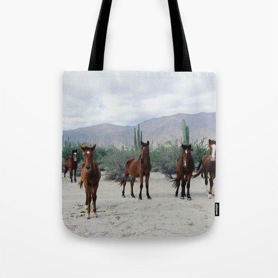 Bahía de los Ángeles Wild Horses Tote Bag