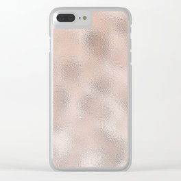 Rose gold gentle metallic Clear iPhone Case