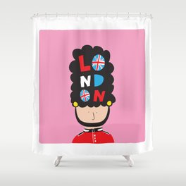 London Calling Shower Curtain
