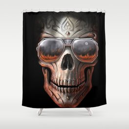triball skull / Gothique Poster - Feu D'Enfer Shower Curtain
