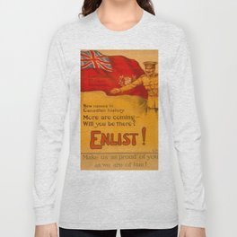 Vintage poster - Canadian Recruiting Long Sleeve T-shirt