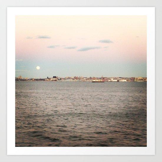 NY Harbor Art Print