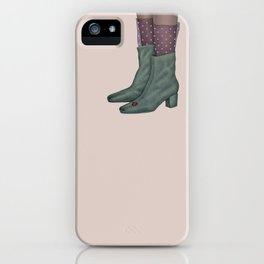 Boots and ladybug iPhone Case