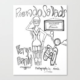 Riendo Salads- Uncovered, Discover cover page Canvas Print