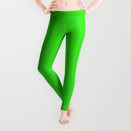 Lime Margarita Solid Summer Party Color Leggings