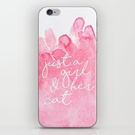 Just a girl and her cat iPhone Skin