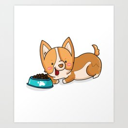 Corgi Dog Funny Gifts Cute Puppy Pets Art Print