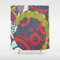 dragon ball Shower Curtains featuring ball by echo3005