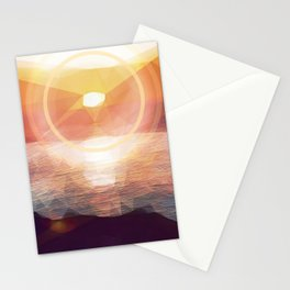 Winged Mediterranean Sunrise with circles and triangles Stationery Cards