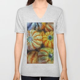 Colorful Pumpkins Unisex V-Neck
