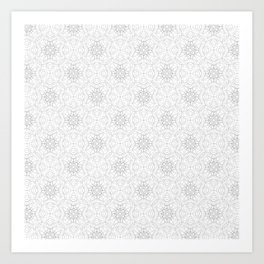 delicate lace - grey on white Art Print
