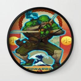 Leonardo Teenage Mutant Ninja Turtles TMNT Wall Clock