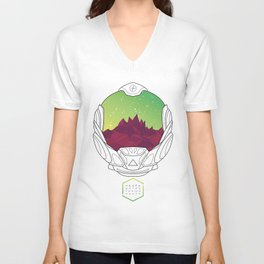 Helmet III (Green Space) Unisex V-Neck
