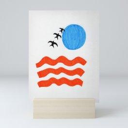 Blue Sunset Mini Art Print