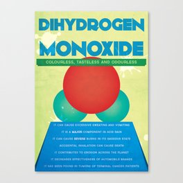 Dihydrogen Monoxide Canvas Print