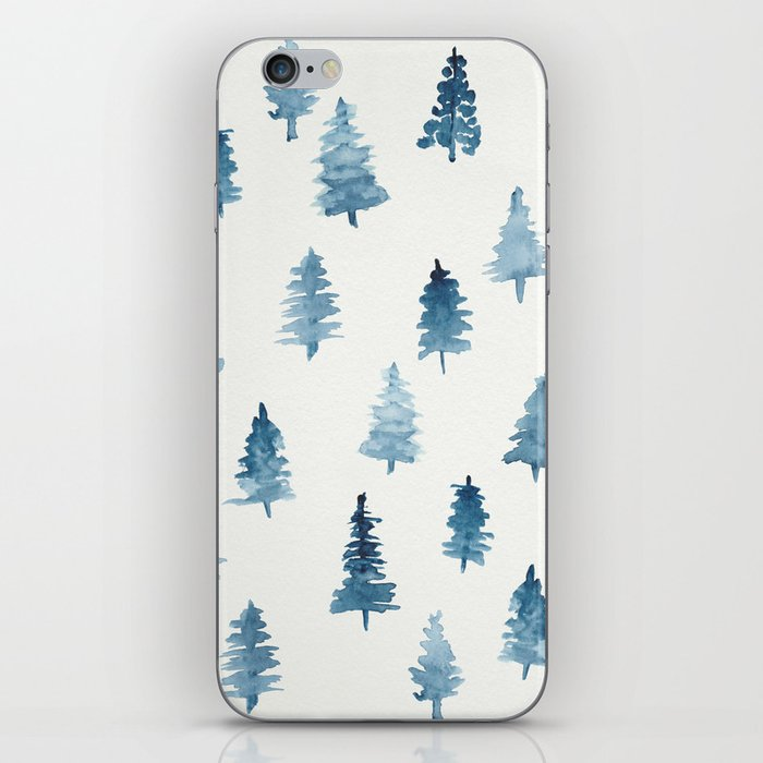 Watercolor Trees iPhone Skin