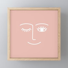 Wink / Pink Framed Mini Art Print
