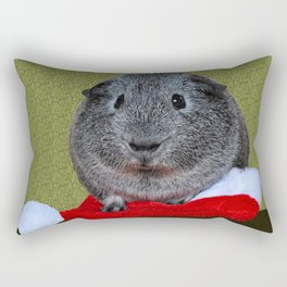Guinea Pig Christmas Rectangular Pillow