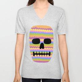 Zig-Zag Skull Unisex V-Neck