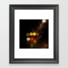 Spider Eyes in Rain Framed Art Print