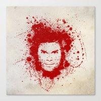 dexter Canvas Prints featuring Dexter by David