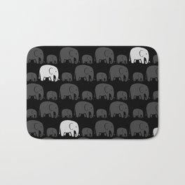 Elephant Black Bath Mat