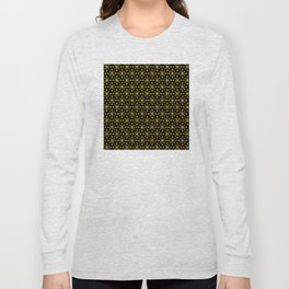 Art Deco Vintage-Retro Gold and Black Pattern Long Sleeve T-shirt