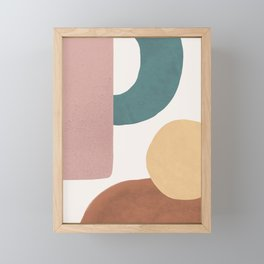 Abstract Earth 1.2 - Painted Shapes Framed Mini Art Print