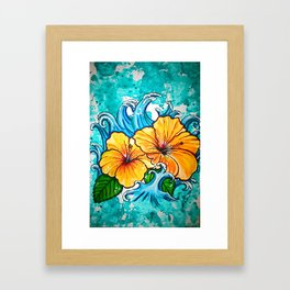 Hibiscus Wave Framed Art Print