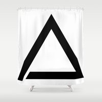 triangle Shower Curtains featuring TRIANGLE by eARTh