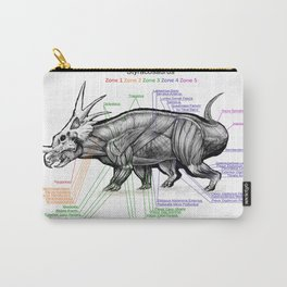Styracosaurus Muscle Study Carry-All Pouch