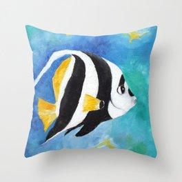 Banner Fish Throw Pillow