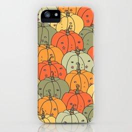 Grumpy Pumpkins iPhone Case