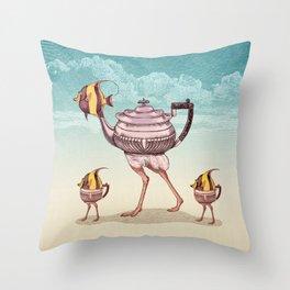 The Teapostrish Family Throw Pillow