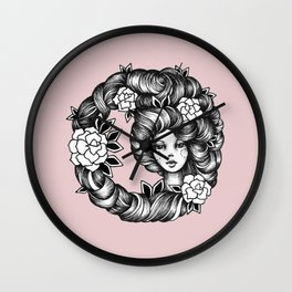 Ink Girl Design - 14.05.17 03 Wall Clock