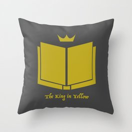 The King in Yellow Throw Pillow