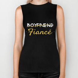 Fiance Gift Boyfriend Just Married Wedding Engagement Engaged Biker Tank