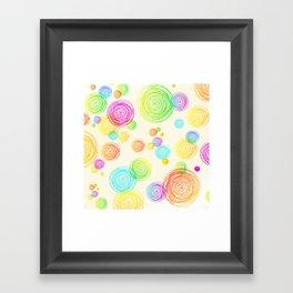 I'm Seeing Circles Framed Art Print