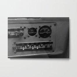 Plane Instrument Panel Metal Print