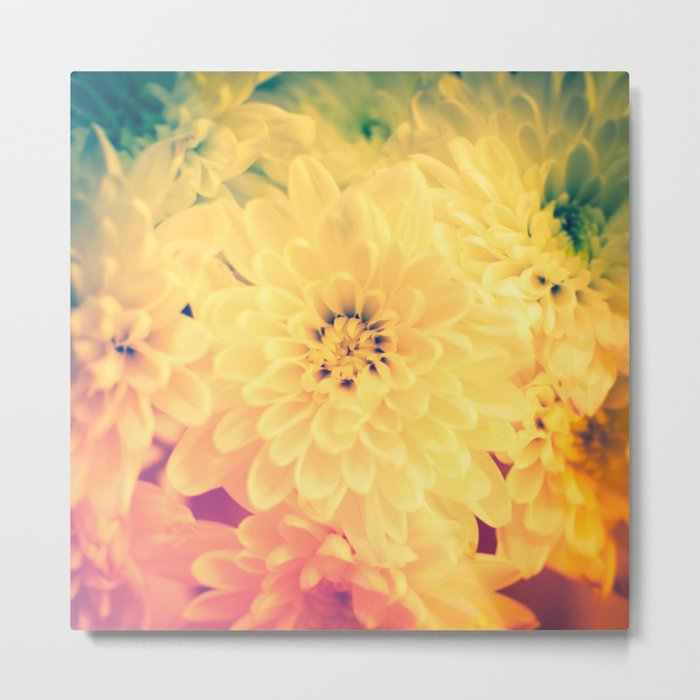 Vivid mix of colourful flowers Metal Print