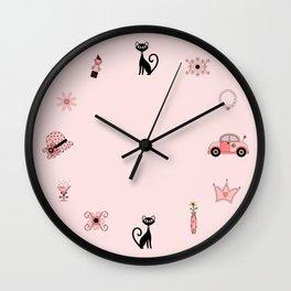 Suave Kitty Wall Clock