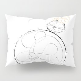 cactus simple line drawing Pillow Sham