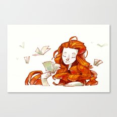 Red hair muse Canvas Print