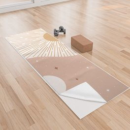 Yin Yang Blush - Sun & Moon Yoga Towel